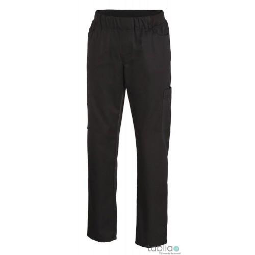 Pantalons cargo noir taille élastique