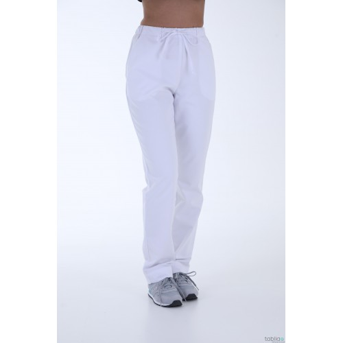 Pantalons blanc taille élastique