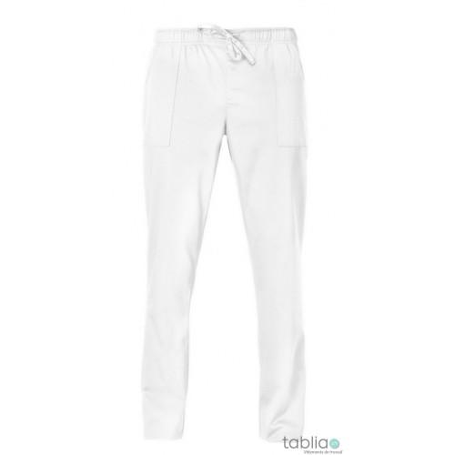 Pantalons unisexe blanc satiné