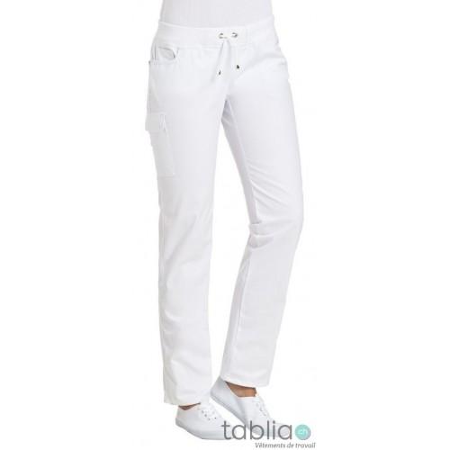 Pantalons cargo stretch blanc