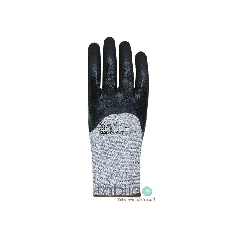 Gants de protection anti-coupures blanc/gris