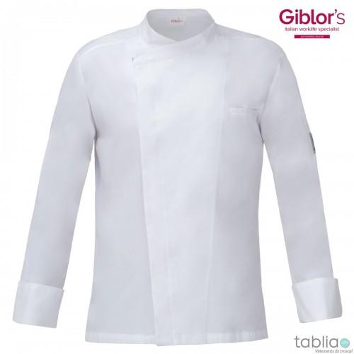 Veste de cuisine blanche slim fit